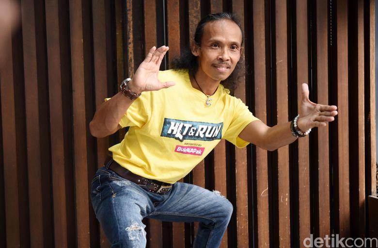 Yayan Ruhiyan saat ditemui di kawasan Kebayoran Baru, Jakarta Selatan pada Senin (20/5). Pool.Noel/detikFoto.