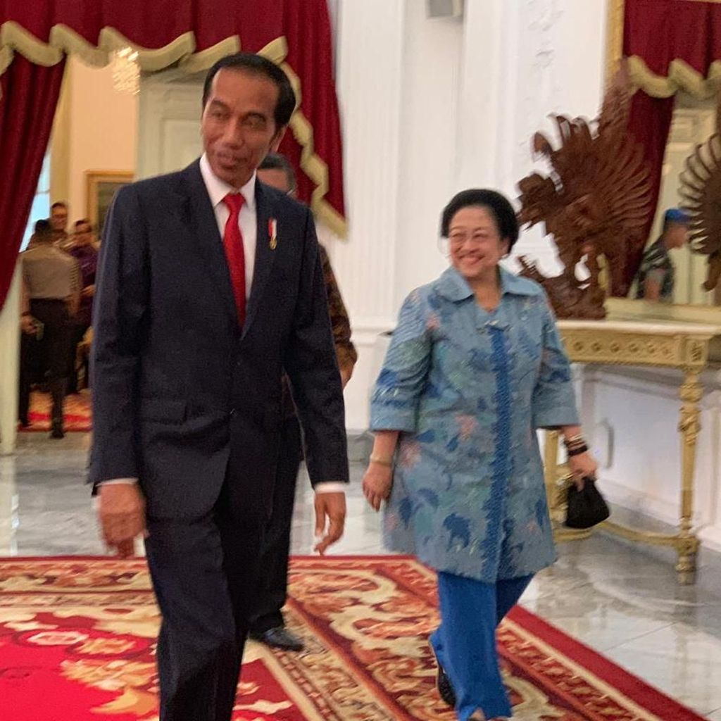 Megawati Temui Jokowi di Istana Merdeka