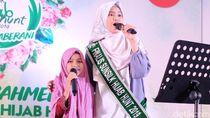 Gemes! Santri Kecil Nyanyi Bareng Finalis Sunsilk Hijab Hunt 2019 di Panggung