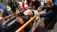 Salah satu korban luka tiba di RS Tarakan.