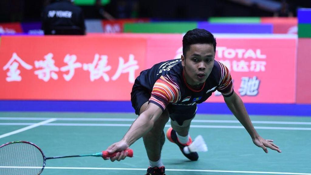 Anthony Ginting Kalah, Indonesia Tertinggal 1-2 dari Jepang