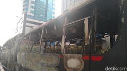 Kapolda Cek 2 Bus Brimob yang Dibakar Massa di Slipi