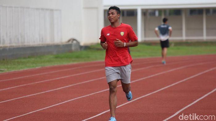 Lalu Muhammad Zohri diharapkan bisa mencapai final Kejuaraan Dunia Atletik 2019.  (Agung Pambudhy/detikSport)