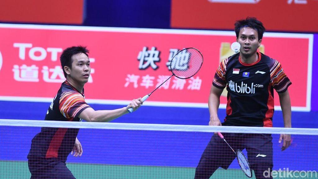 Hendra/Ahsan Kalahkan Astrup/Boe, Indonesia vs Denmark 2-1