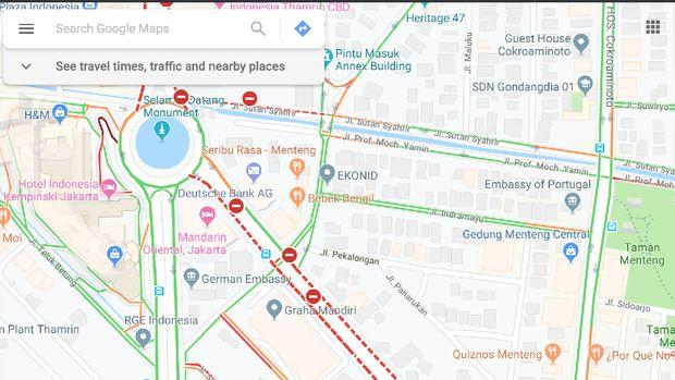 Google Maps Bagi Info Penutupan Ruas Jalan Saat Rusuh 22 Mei
