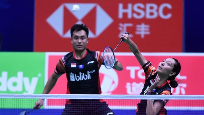 Indonesia juara Grup B dan akan menghadapi Taiwan di perempatfinal Piala Sudirman 2019. (Foto: Wahyu Putro A/Antara Foto)