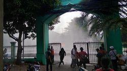 Disiram Heli Water Bombing, Massa di Petamburan Bakar Ban Lagi