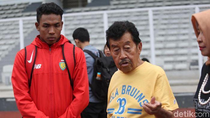Lalu Muhammad Zohri dan Ketua umum PB PASI, Bob Hasan (Agung Pambudhy/detikSport)