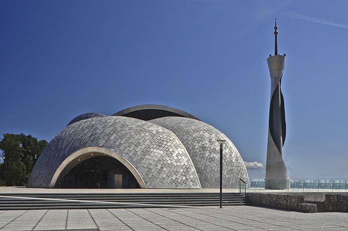 Masjid Islamic Center Rijeka Kroasia dibangun pada tahun 2009 dan membutuhkan waktu hingga 4 tahunsampai akhirnya diresmikan. Dok. www.archnet.org.