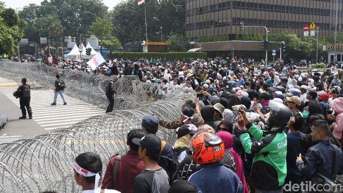 Aksi demo 22 Mei/Foto: Agung Pambudhy
