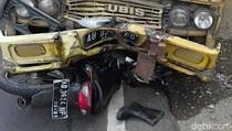 Truk vs Motor di Jalur Nasional Trenggalek, Satu Orang Tewas