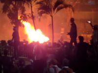 Foto kerusuhan sekitar pukul 20.45 WIB