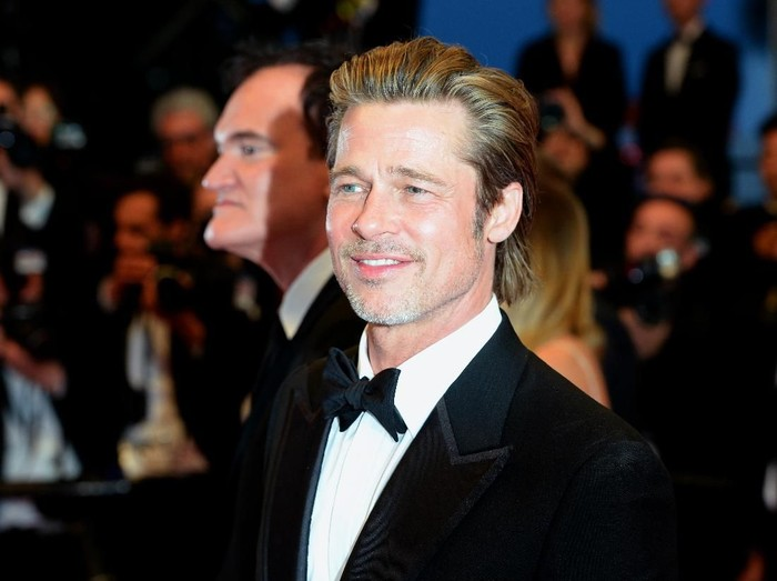 CANNES, FRANCE - MAY 21:  Brad Pitt departs the screening of Once Upon A Time In Hollywood during the 72nd annual Cannes Film Festival on May 21, 2019 in Cannes, France. (Photo by Eamonn M. McCormack/Getty Images)