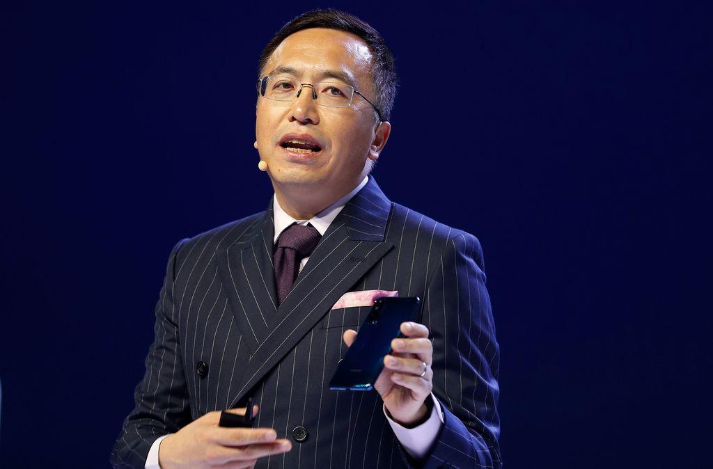 Presiden Honor, George Zhao, memperkenalkan Honor 20 Pro, Honor 20 serta Honor 20 Lite. Foto: Reuters