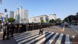Massa Demo 22 Mei Berdatangan, Jl MH Thamrin Ditutup
