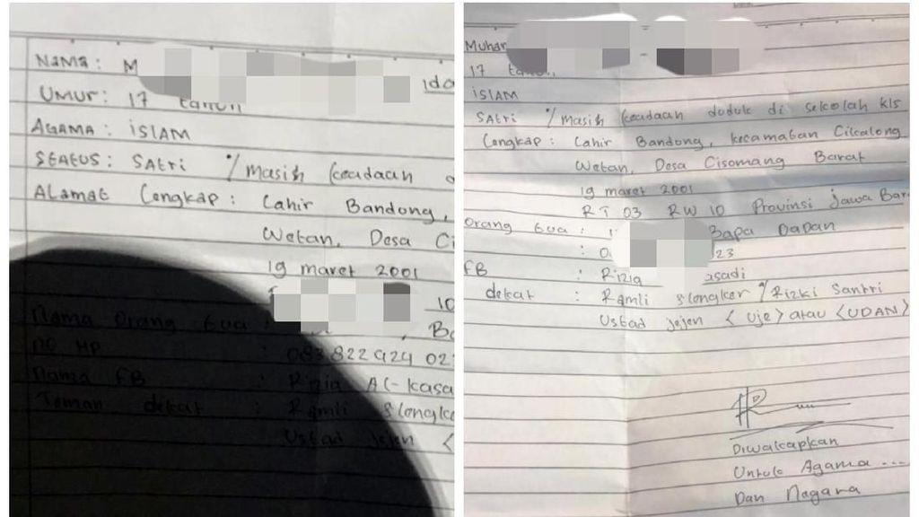 Remaja Hendak Aksi 22 Mei Bawa Surat Diwakafkan untuk Agama-Negara