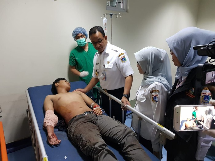 Anies di RS Tarakan (Foto: Indra Komara/detikcom)
