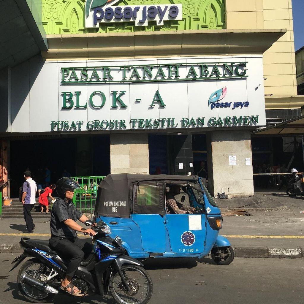 Pasar Tanah Abang Masih Tutup, Jalan Jatibaru Normal dan Kondusif