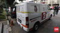 Ambulans Gerindra yang dipakai untuk membawa batu saat kerusuhan di Jakarta pada 22 Mei lalu