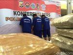 Polisi Gagalkan Pengiriman 1 Ton Ganja ke Jakarta, 3 Orang Ditangkap