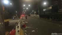 Massa di Flyover Slipi Bubar, Lalin Kembali Dibuka