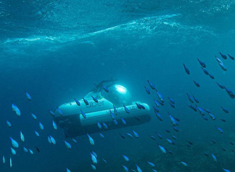 Transportasi bawah air ini bernama ScUber. Kapal selam ini merupakan kerjasama Queenslalnd dengan Uber. (dok ScUber Queensland)