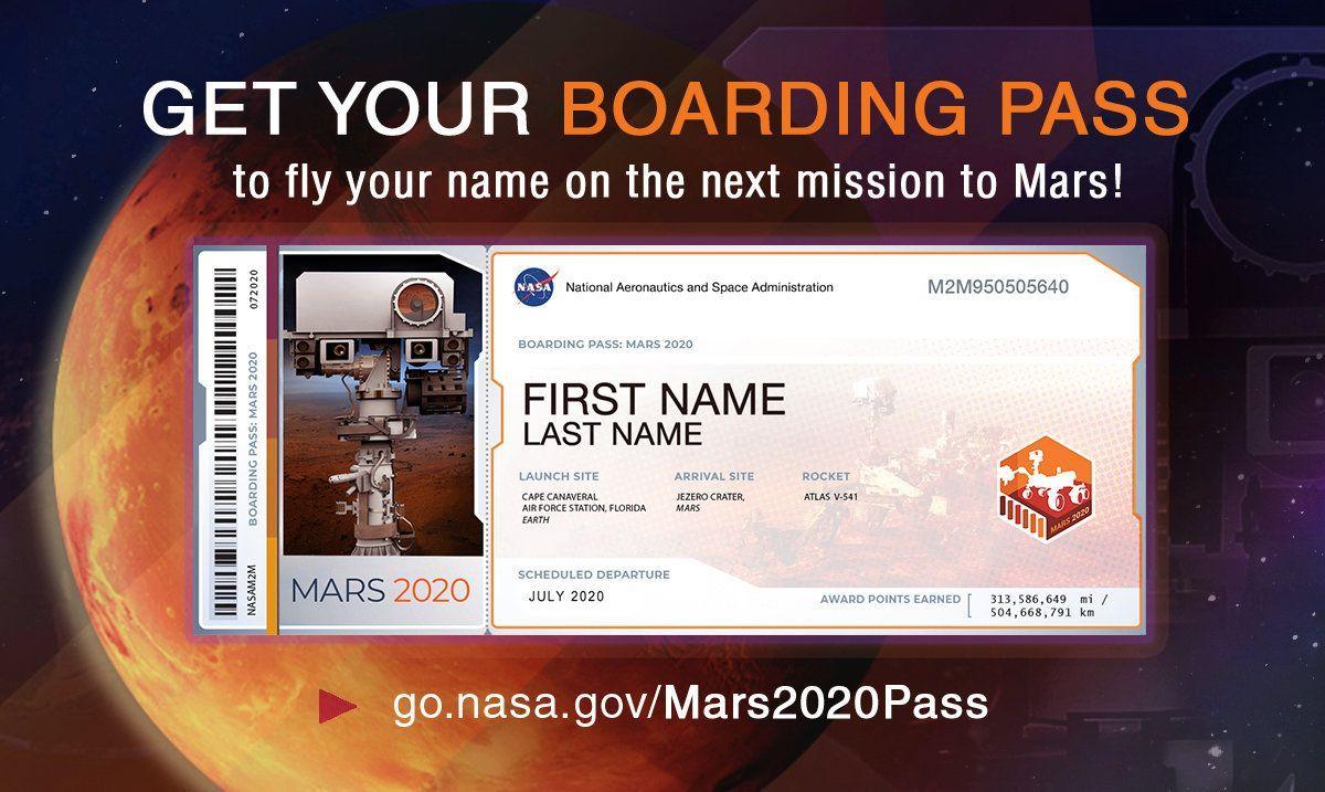 tiket gratis NASA ke Mars