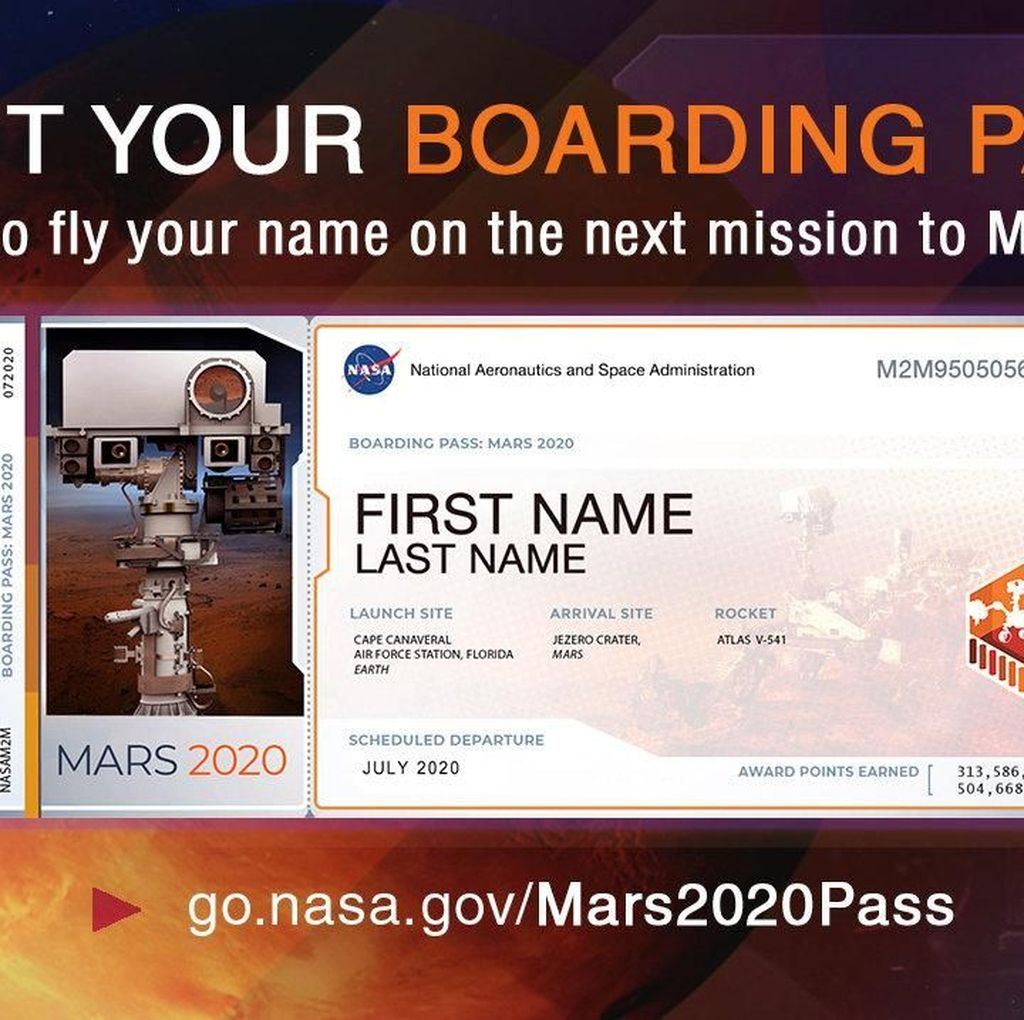 NASA Bagi-bagi Tiket Gratis ke Mars