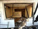 Kondisi Pos Polisi Sabang Pasca Dibakar