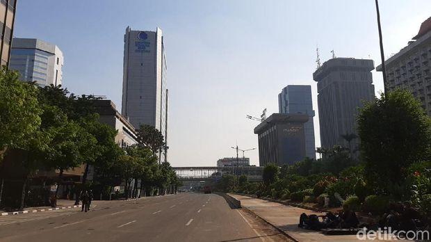 Jalan Thamrin Depan Bawaslu Masih Ditutup, Kebon Sirih Normal