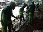 Rusak Akibat Rusuh 22 Mei, Pagar di Jalan Jatibaru Diperbaiki