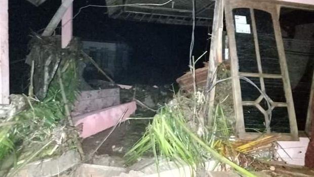 Empat kecamatan diterjang banjir bandang.