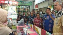Pantau Harga di Pasar Magelang, Ganjar Malah Temukan Ikan Berformalin