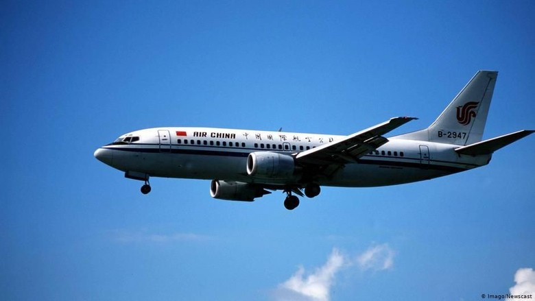 Foto: Ilustrasi maskapai Air China (DW News)