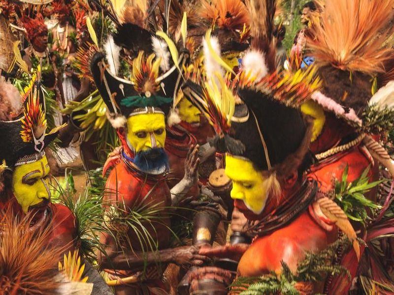Suku Huli menempati wilayah pegunungan di bagian barat Papua Nugini yang sulit terjangkau (iStock)