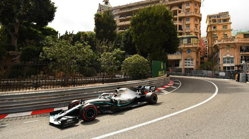 Hamilton dan Bottas Tegaskan Dominasi Mercedes di FP2 GP Monako