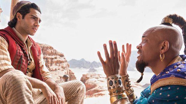 Interaksi Aladdin dan Genie mencuri perhatian di film 'Aladdin.'
