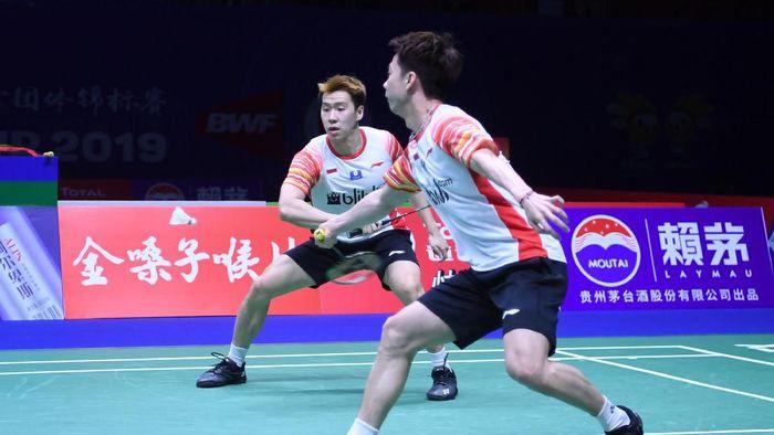 Indonesia bertemu Jepang di semifinal Piala Sudirman 2019. (Foto: Wahyu Putro A / Antara)