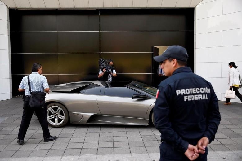 Lamborghini Sitaan Pemerintah Meksiko yang akan Dilelang. Foto: REUTERS/Carlos Jasso