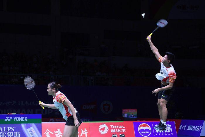 Indonesia lolos ke Semifinal Piala Sudirman setelah mengalahkan Taiwan dengan skor 3-2 di Guangxi Sports Center Gymnasium, Jumat (24/5/2019).