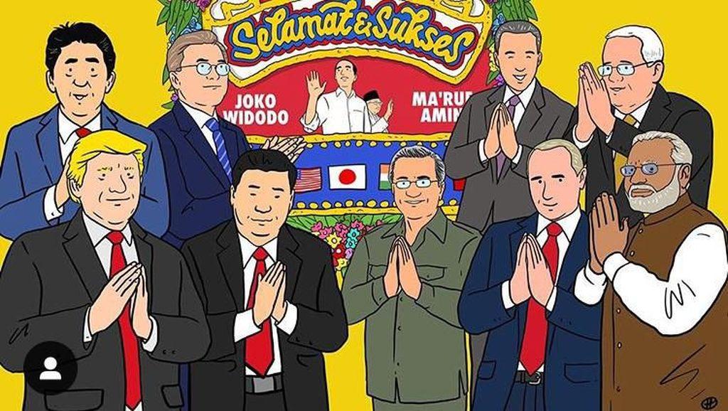 Donald Trump hingga Putin Ucapkan Selamat dan Sukses Buat Jokowi