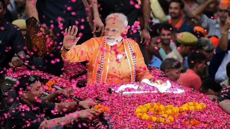 Dianggap sebagai Sosok Kuat, PM Modi Menang Mutlak di Pemilu India