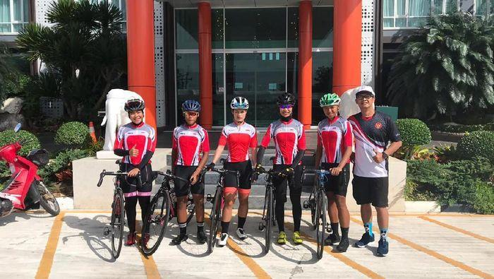 Timnas balap sepeda putri tampil di kejuaraan Tim nasional balap sepeda putri di kejuaraan Tour of Trat 2019 Thailand. (Foto: dok. PB ISSI)