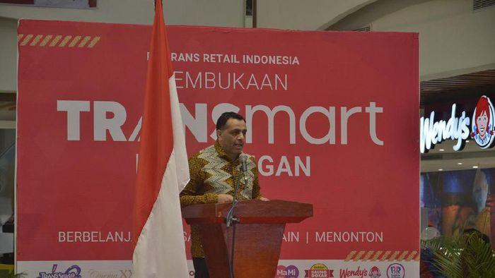 Bouzeneth Benaouda (Chief Commercial Officer PT. Trans Retail Indonesia) memberikan kata sambutanFoto: Robby Bernardi/detikcom