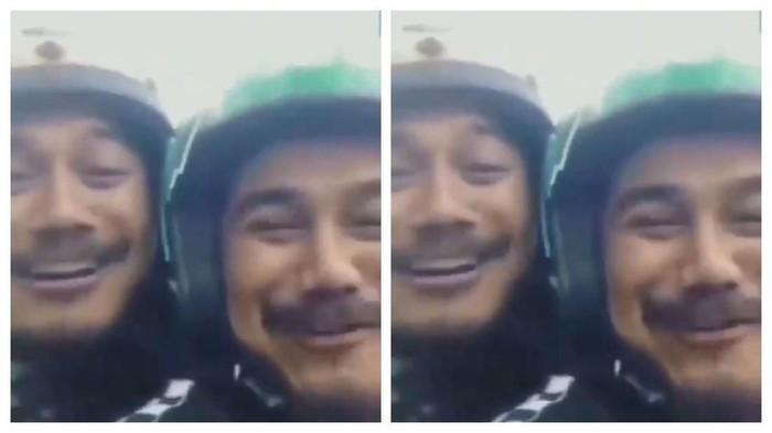 Video viral driver ojol mirip customer. Foto: Foto: Twitter @hati2dimedsos