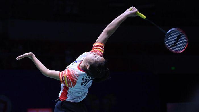 Gregoria Mariska harus bsia keluar dari tekanan dengan upaya sendiri di tiap pertandingan. (Wahyu Putro A/Antara Foto)