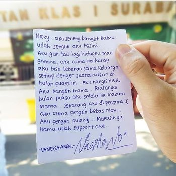 Nicky Tirta Ungkap Isi Surat Kecil Vanessa Angel yang Menyayat Hati
