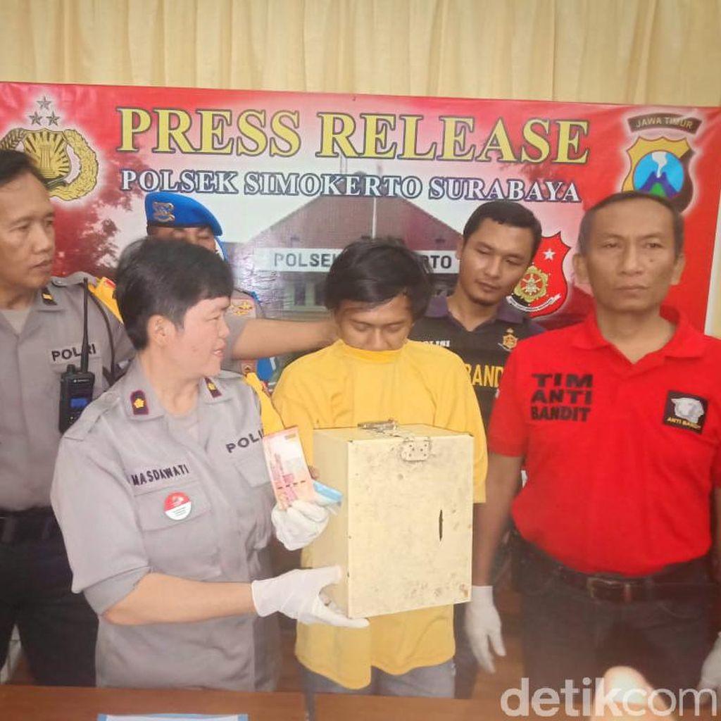 Seorang Pemuda di Surabaya Nekat Curi Kotak Amal untuk Judi dan Lebaran