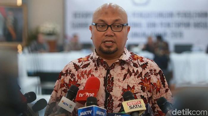Foto: Komisioner KPU Ilham Saputra (Ibnu Harianto/detikcom)