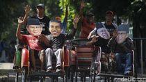 Jokowi Hingga Prabowo Naik Becak Serukan Rekonsiliasi Pasca Pemilu